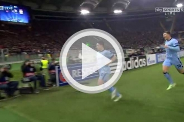 Clip luot 6 vong bang <b style='background-color:Yellow'>C1</b>: AS Roma vs Manchester City