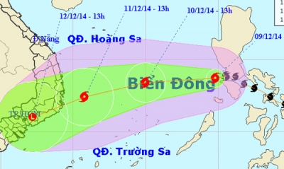 Bao Hagupit tren <b style='background-color:Yellow'>bien Dong</b>