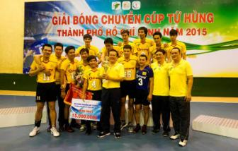 <b style='background-color:Yellow'>Maseco TPHCM</b> vo dich giai bong chuyen Cup Tu Hung TPHCM 2015