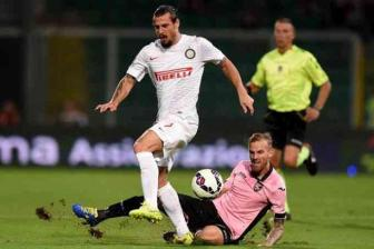 Vong 9 <b style='background-color:Yellow'>Serie A</b>: Palermo 1-1 Inter Milan