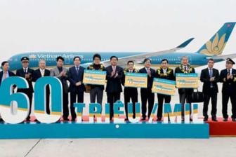 <b style='background-color:Yellow'>Vietnam Airlines</b> don hanh khach thu 160 trieu