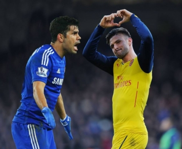 HLV Wenger muon <b style='background-color:Yellow'>Olivier Giroud</b> tro thanh sat thu nhu Diego Costa