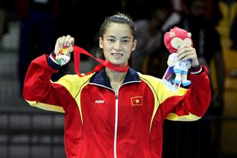 Le Thi Bang nhan <b style='background-color:Yellow'>HCV SEA Games</b> 28 mon Boxing hang can duoi 54 kg