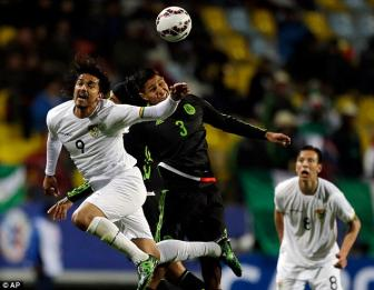 <b style='background-color:Yellow'>Mexico</b> 0-0 Bolivia: Khong cam xuc!