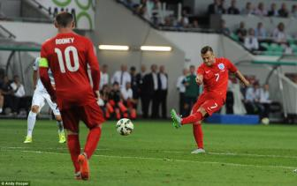 Slovenia 2-3 Anh: <b style='background-color:Yellow'>Jack Wilshere</b> va Wayne Rooney giup Tam su duy tri mach thang