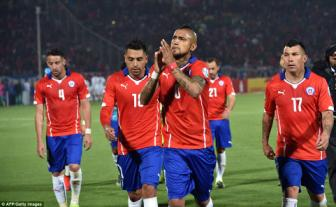 Bang A Copa America, Chile 5-0 <b style='background-color:Yellow'>Bolivia</b>: Suc manh 'The Reds'