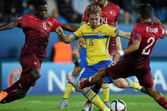 Video bang B VCK U21 chau Au - U21 Portugal 1-1 U21 Sweden