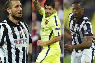 <b style='background-color:Yellow'>Barcelona</b> vs Juventus - Suarez tranh duoc Chiellini nhung con Patrice Evra???