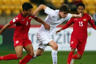 Clip World Cup U-20 bang A - U20 Myanmar 1-5 U20 <b style='background-color:Yellow'>New Zealand</b>
