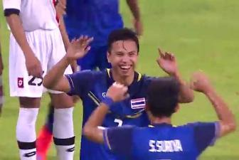 Video Bang B bong da nam SEA Games 28 - U23 Thai Lan 5-0 U23 Brunei