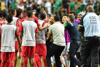 Video ban ket <b style='background-color:Yellow'>Gold Cup 2015</b> - Panama 1-2 Mexico
