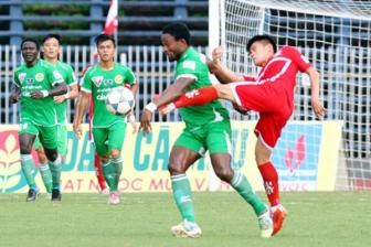 Video <b style='background-color:Yellow'>vong 19 V-league</b> - Dong Tam Long An 2-0 Sanna Khanh Hoa
