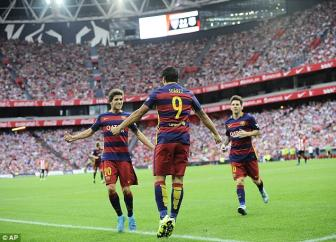 Athletic <b style='background-color:Yellow'>Bilbao</b> 0-1 Barcelona: May con co Luis Suarez!