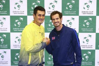 Video <b style='background-color:Yellow'>ban ket Davis Cup 2015</b> - Murray vs Tomic