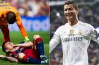 <b style='background-color:Yellow'>CR 7</b> doat danh hieu 'cau thu khoe nhat' ngay sau chan thuong cua Messi