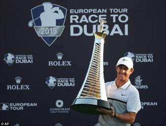 Rory McIlroy wins European Tour Golfer of the Year Award for third time in four years