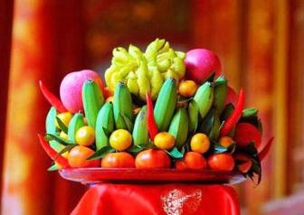 The Plate of Five Fruits in Vietnamese New Year