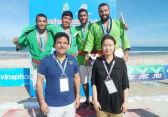 Turkmenistan's Setdarov claims first gold of kurash career