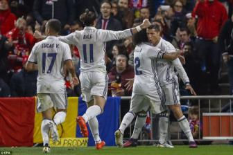 <b style='background-color:Yellow'>Atletico Madrid</b> 0-3 Real Madrid: Derby nhuom mau...Ronaldo