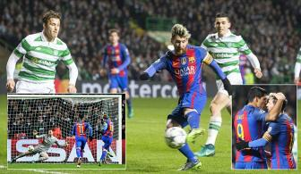 <b style='background-color:Yellow'>Celtic</b> 0-2 Barcelona: Van la Lionel Messi