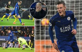 <b style='background-color:Yellow'>Leicester City</b> 4-2 Man City: Jamie Vardy gieo them ac mong cho Pep Guardiola