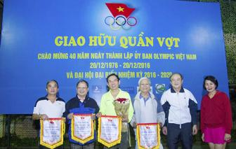 <b style='background-color:Yellow'>Giao huu</b> quan vot ky niem 40 nam Ngay thanh lap Uy ban Olympic Viet Nam