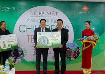 Ra mat giai golf tu thien Swing for the children's Tet 2017