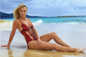 <b style='background-color:Yellow'>Caroline Wozniacki</b> day cuon hut tren Sports Illustrated