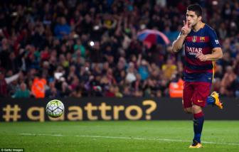 <b style='background-color:Yellow'>Luis Suarez</b> thiet lap 2 ky luc o La Liga chi trong 3 ngay