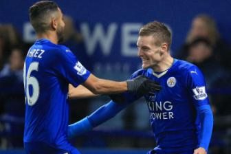 <b style='background-color:Yellow'>Leicester City</b> vinh danh Mahrez, Kante, Vardy