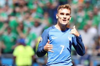 Phap 2 -1 <b style='background-color:Yellow'>CH Ireland</b>: Nuoc mat Pogba, nu cuoi Griezmann