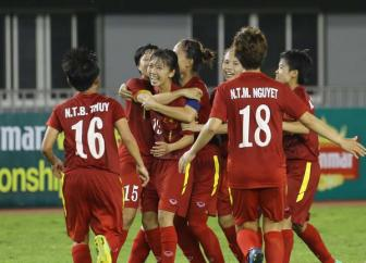 <b style='background-color:Yellow'>Nu Viet Nam</b> vao chung ket AFF Cup nu 2016 sau chien thang kich tinh