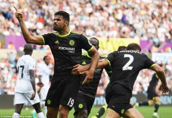 <b style='background-color:Yellow'>Diego Costa</b> lap cu dup, Chelsea van dut mach tran thang