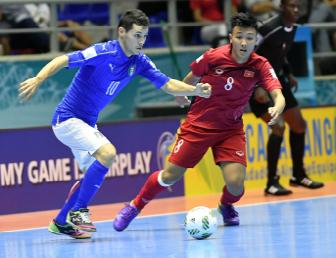 DT Futsal Viet Nam gianh ve vao vong 16 doi o <b style='background-color:Yellow'>World Cup Futsal 2016</b>