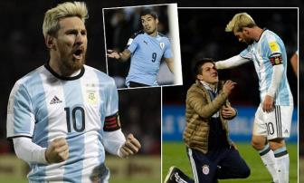 <b style='background-color:Yellow'>Lionel Messi</b> dua 10 cau thu Argentina len dinh Nam My