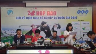 Khoi dong giai Golf Vo dich Nu Nghiep du Quoc gia 2016