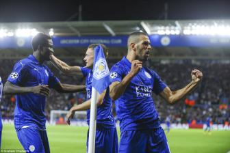 Leicester 1-0 <b style='background-color:Yellow'>Porto</b>: Islam Slimani, khac tinh cua 'Rong'