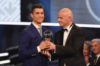 <b style='background-color:Yellow'>Cristiano Ronaldo</b> lan dau doat giai FIFA The Best