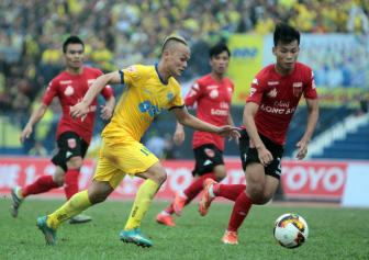<b style='background-color:Yellow'>Thanh Luong</b> ngan FLC Thanh Hoa trong cuoc dua vo dich V.League 2017