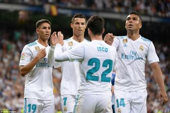 <b style='background-color:Yellow'>Real Madrid</b> 2-0 Espanyol: 'Ma am' Ronaldo, may con co Isco