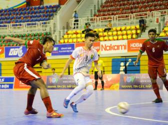 Indonesia thang tran thu hai lien tiep o <b style='background-color:Yellow'>Giai futsal vo dich DNA 2017</b>