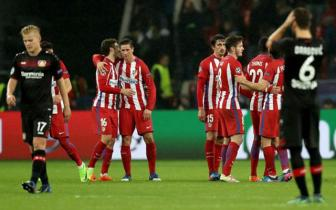 <b style='background-color:Yellow'>Luot di</b> vong 1/8 Champions League: Leverkusen 2-4 Atletico