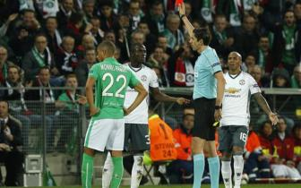<b style='background-color:Yellow'>Luot ve vong 1/16</b> Europa League: St.Etienne 0-1 Man United