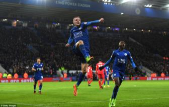 <b style='background-color:Yellow'>Leicester City</b> 3-1 Liverpool: Bay cao lot xac kho tin cung Jamie Vardy