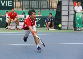 <b style='background-color:Yellow'>DT Viet Nam</b> thua Hong Kong tai vong 1 Nhom II Davis Cup 2017