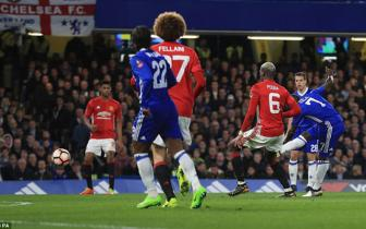 <b style='background-color:Yellow'>Video</b> tu ket FA Cup: Chelsea 1-0 Man United