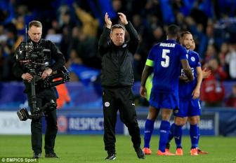Chum anh ve chien thang lich su cua Leicester tai Champions League