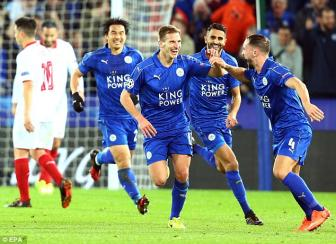 Danh bai <b style='background-color:Yellow'>Sevilla</b>, Leicester City gianh tam ve lich su vao tu ket Champions League