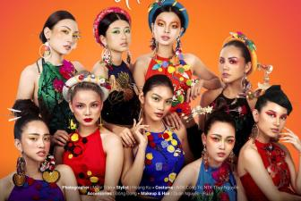 """Thi sinh vong online The Face 2017 """"loe loet"""" voi trai cay"""