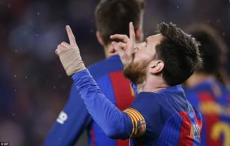 <b style='background-color:Yellow'>Barcelona</b> 3-2 Sociedad: Messi len day cot truoc Sieu kinh dien